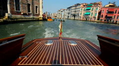 Water Taxi in Venice, Italy. Boat Tour in Venice. Stock Footage