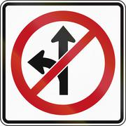 Stock Illustration of No Straight Or Left in Canada