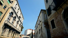 Venice Canal Buildings and Venice Architecture From a Boat. - stock footage
