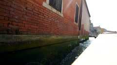 Stock Video Footage of Venice Architecture From a Tour Boat. Water Taxi in the Venice, Italy, Europe.