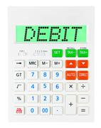 Calculator with DEBIT Stock Photos