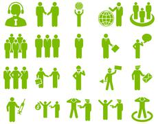 Management and people occupation icon set Stock Illustration