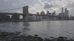 Brooklyn Bridge 002 SLOG2 Stock Footage