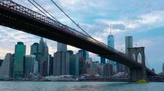 Brooklyn Bridge 001 Color Corrected Stock Footage