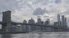 Brooklyn Bridge 003 SLOG2 Stock Footage