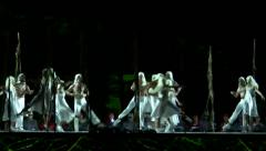 Maidens dance with their mates in the beginning of Spring Stock Footage