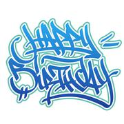 Stock Illustration of Happy Birthday graffiti style