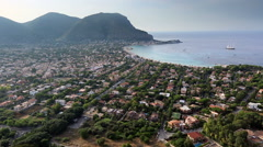Aerial Mondello Bay Stock Footage