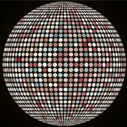 Vector sphere with tiles. Vintage color Stock Illustration