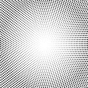 Vector halftone dots. Black dots on white background Stock Illustration
