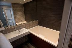 Stock Photo of Interior of modern bathroom
