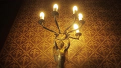 Chandelier in palace Stock Footage
