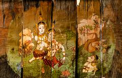 Traditional Thai style art stories - stock photo