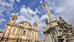 Piazza San Domenico with San Domenico Church Stock Footage