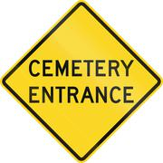 Cemetary Entrance in Canada Stock Illustration