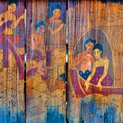 Traditional Thai style art stories Stock Photos