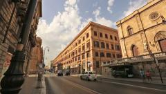 Time Lapse City View Of Palermo Stock Footage