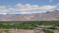 TIMELAPSE Ticksey seen from Stakna,Stakna,Ladakh,India Stock Footage