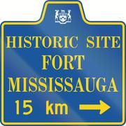 Historic Site Fort Mississauga In Canada Stock Illustration