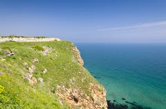 Bulgaria, Black Sea. Coastal landscape. Kaliakra headland - stock photo