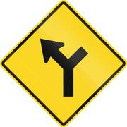 Intersection Ahead In Canada Stock Illustration