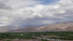 TIMELAPSE  Ticksey Gompa seen from Stakna,Stakna,Ladakh,India Stock Footage