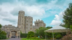 Old royal residence, Windsor Castle Stock Footage