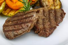 Grilled Veal steak Stock Photos