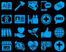 Stock Illustration of Medical bicolor icons