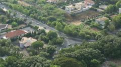 Aerial Mondello Traffic Stock Footage