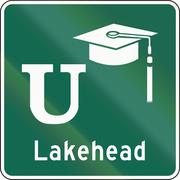 Stock Illustration of University Sign In Canada