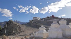 TIMELAPSE Spituk Gompa and Chorten,Spituk,Ladakh,India Stock Footage