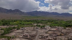 TIMELAPSE  View down from Gompa,Stakna,Ladakh,India Stock Footage