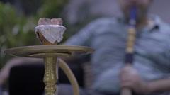 Man smoking Hookah Stock Footage