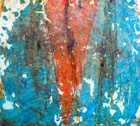 Abstract watercolour background, blue and red color Stock Photos