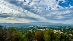 San Fernando Valley Warner Center view from Topanga Canyon Stock Footage