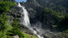 Engstligen waterfalls in Adelboden, Switzerland, Europe. Stock Footage