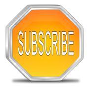 Subscribe Button - stock photo