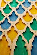Line in morocco africa old tile  colorated floor ceramic abstrac Stock Photos