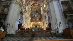 Chiesa Santa Ninfa ai Crociferi, Church Santa Ninfa Crociferi Stock Footage