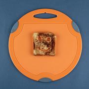Happy toast on a cutting board Stock Photos