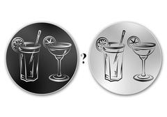 Set of alcoholic cocktails illustration Stock Illustration