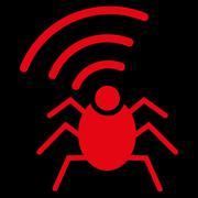 Stock Illustration of Radio spy bug icon