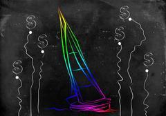 Stock Illustration of Yacht icon illustration