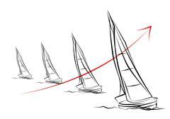 Yacht icon illustration Stock Illustration