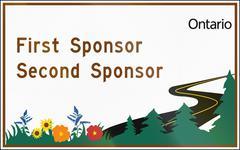 Planting Partnership Sponsors In Canada - stock illustration
