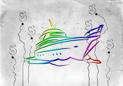 Yacht icon illustration - stock illustration