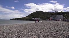 Beach scene Bray Ireland Stock Footage