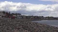 Bray Ireland pebble beach Stock Footage