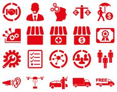 Business, trade, shipment icons - stock photo